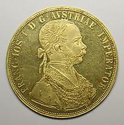 4-ducat piece, Francis Joseph I of Austria, 1888, 40th anniversary of the Emperor's accession