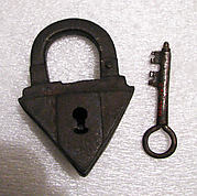 Padlock with key