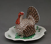Tureen with cover in the form of a turkey