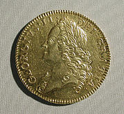 Five guineas coin of George II