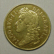Two guineas coin of James II