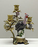 Candelabra with Meissen bird (one of a pair)