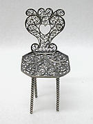 Miniature chair (one of three) (part of a set)