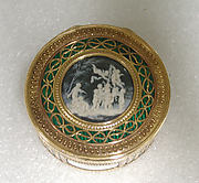 Snuffbox with scenes of putti at play