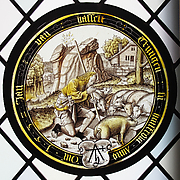 The Prodigal as a Swineherd (one of eight scenes from the story of the Prodigal Son)