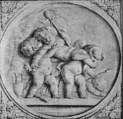 The youthful Bacchus carried by two companions
