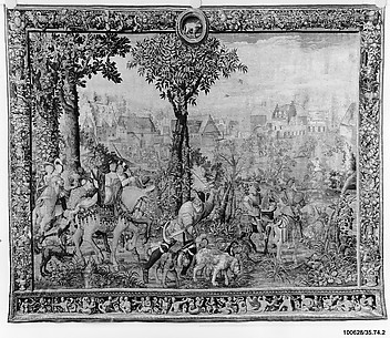 The Arrival at the Hunting Lodge, or April from a set of the Hunts of Maximilian