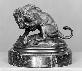 Lion About to Strike a Serpent (Lion la patte levée sur un serpent or Esquisse du lion des Tuileries)
