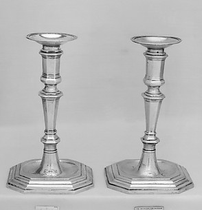 Pair of bobêches for candlesticks