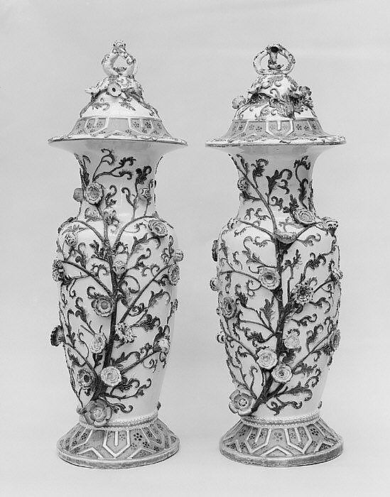 Pair of vases with covers