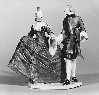 Crinoline lady with cavalier