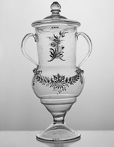 Two-handled vase with cover