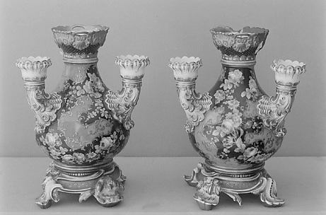 Pair of flower vases