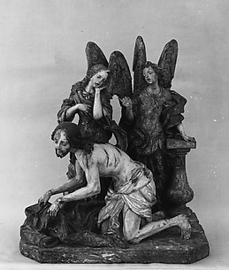 Angels mourning over Christ after the flagellation