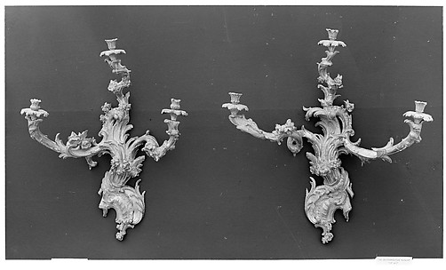 Wall light (Candelabrum appliqué) (one of a pair)