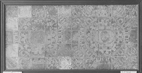 Tiles with the devices of Claude d'Urfé