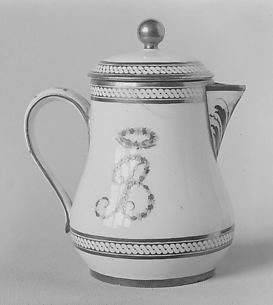 Milk jug with cover (part of a traveling tea service)