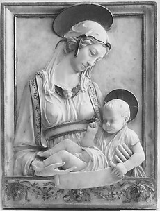 Renaissance-style relief of Virgin and Child