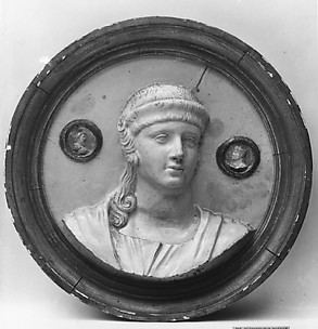 Bust of a Roman matron (one of a pair)