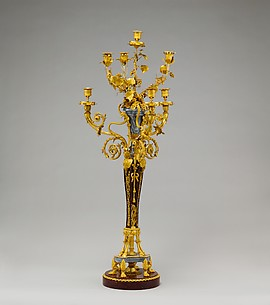 Pair of seven-light candelabra (Candélabres or girandoles)