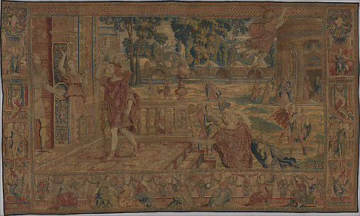 Aglauros Changed to Stone by Mercury, from a set of eight tapestries depicting the Story of Mercury and Herse
