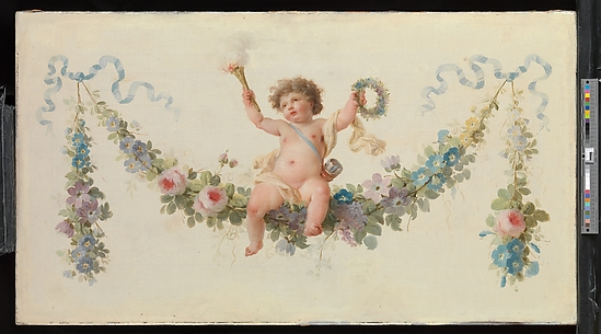 Cupid Seated on a Garland
