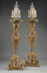 Pair of candlestands