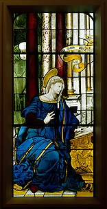 The Annunciate Virgin (one of a pair)