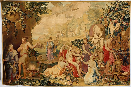 The Festival of Psyche, with Mercury from a set of Mythological Subjects after Giulio Romano