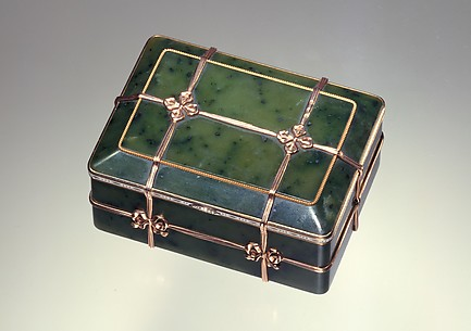 Box in the form of a banded trunk