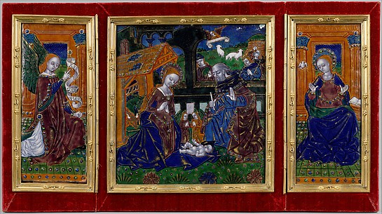 Triptych with the Nativity and the Annunciation