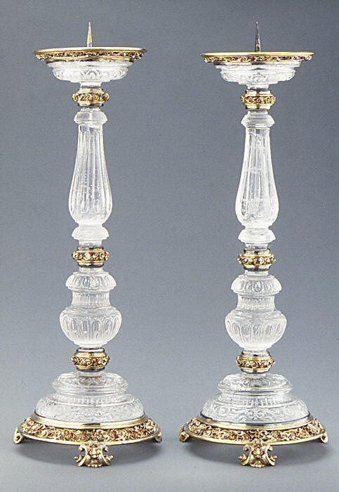 Pair of pricket candlesticks