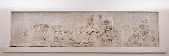 Children and satyr children leading a goat to sacrifice (part of a group)
