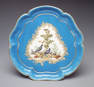 Stand for ice-cream cup (plateau Bouret) (one of four) (part of a service)