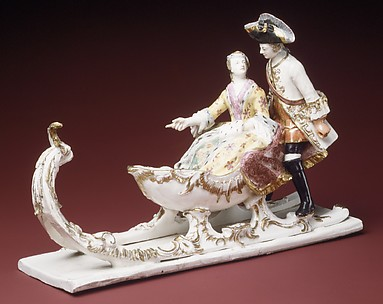 Man and woman with sleigh