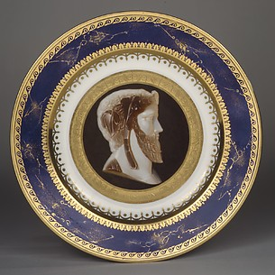 Plate with imaginary portrait of the tragic poet Moschion
