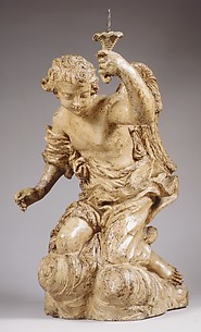 Candle-bearing angel (one of a pair)