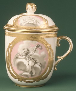 Cup with cover (from a tea service)