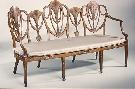 Triple-back chair settee
