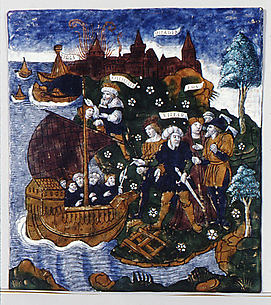 Aeneas Builds a Fleet Near Antandrus, at the Foot of Mount Ida