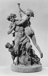 Bacchic group: satyr and bacchante with infant satyr