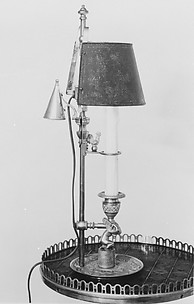 Candlestick with shade (flambeau à écran)