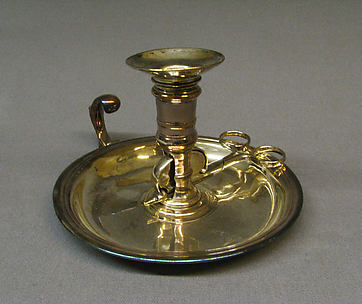 Chamber candlestick with snuffers