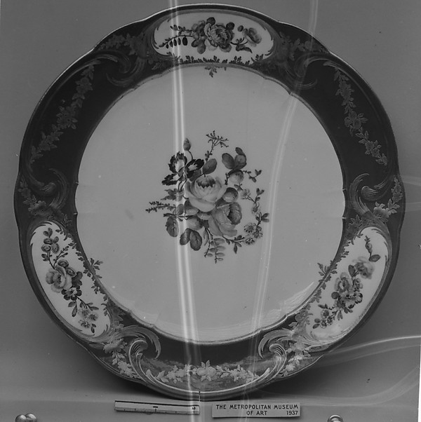 Plate (Assiette à palmes) (1 of 102) (part of a service)