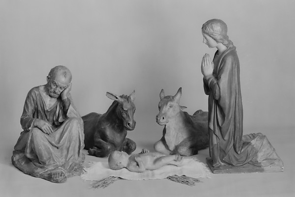 Nativity (five figures forming a presepio)