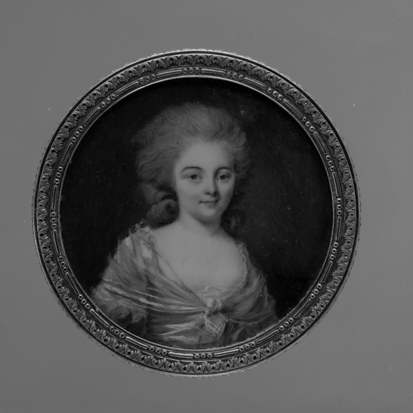 Box with portrait of a woman, said to Be Madame Bailly