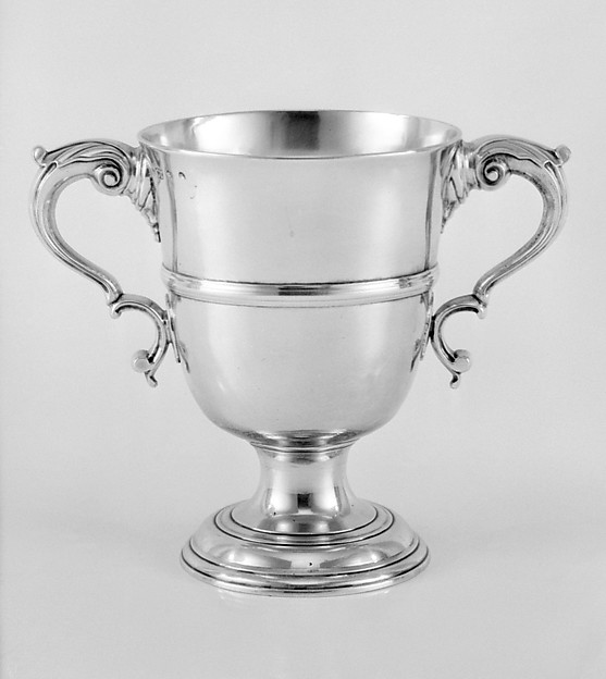 Two-handled standing cup