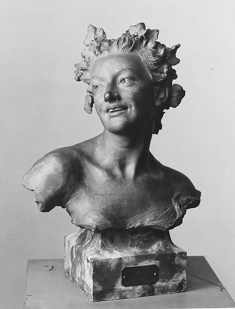 Bacchante with vine leaves