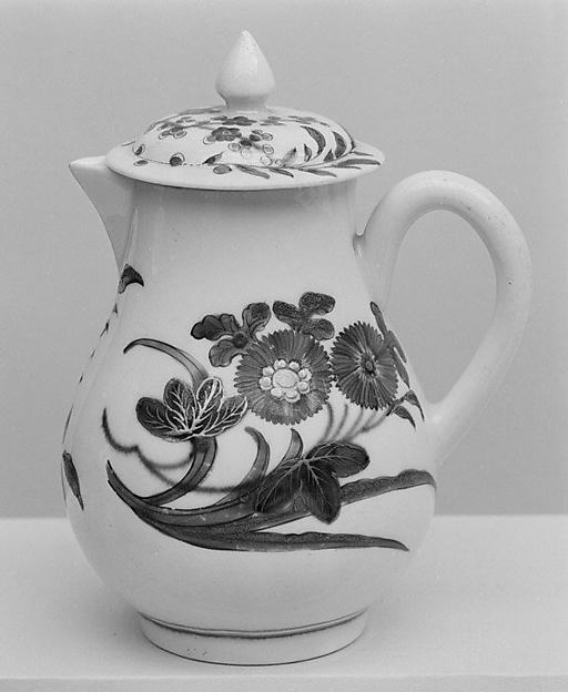 Cream jug with cover (part of a service)