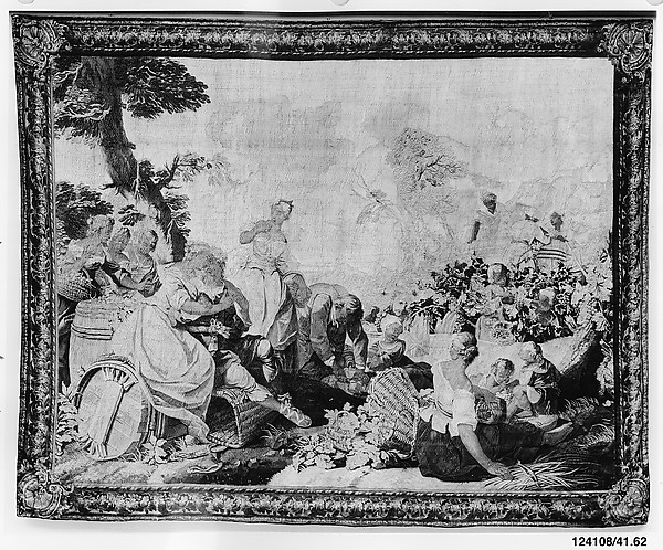 Fascinating Historical Picture of tienne Jeaurat with The Vintage from The Story of Daphnis and Chloe in 1741